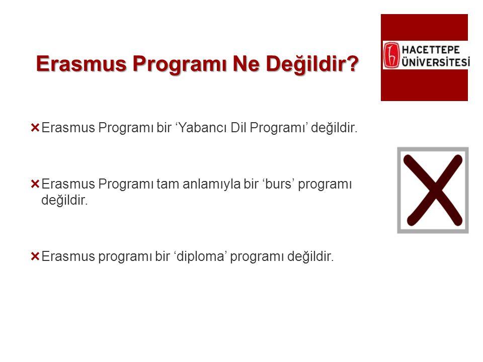 Erasmus Programı Ne Değildir