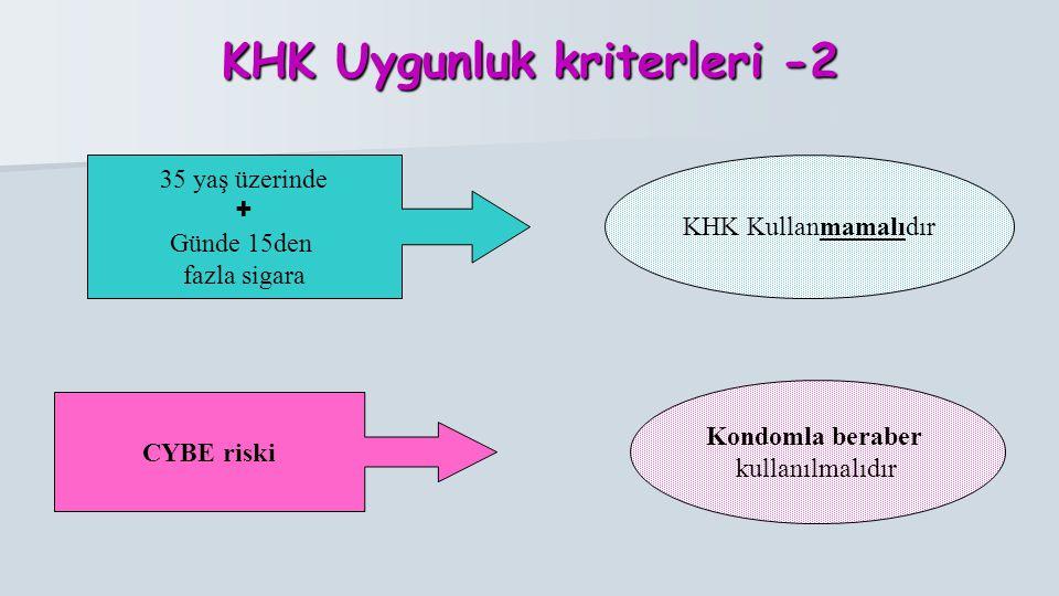 KHK Uygunluk kriterleri -2