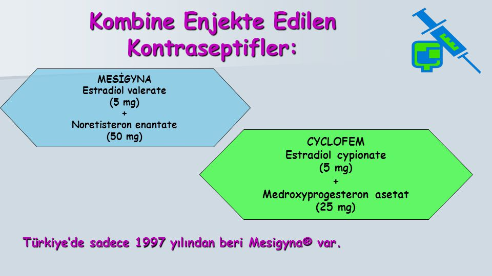 Kombine Enjekte Edilen Kontraseptifler: