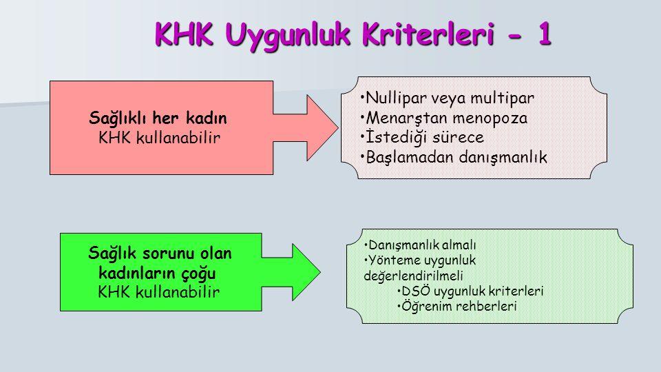 KHK Uygunluk Kriterleri - 1