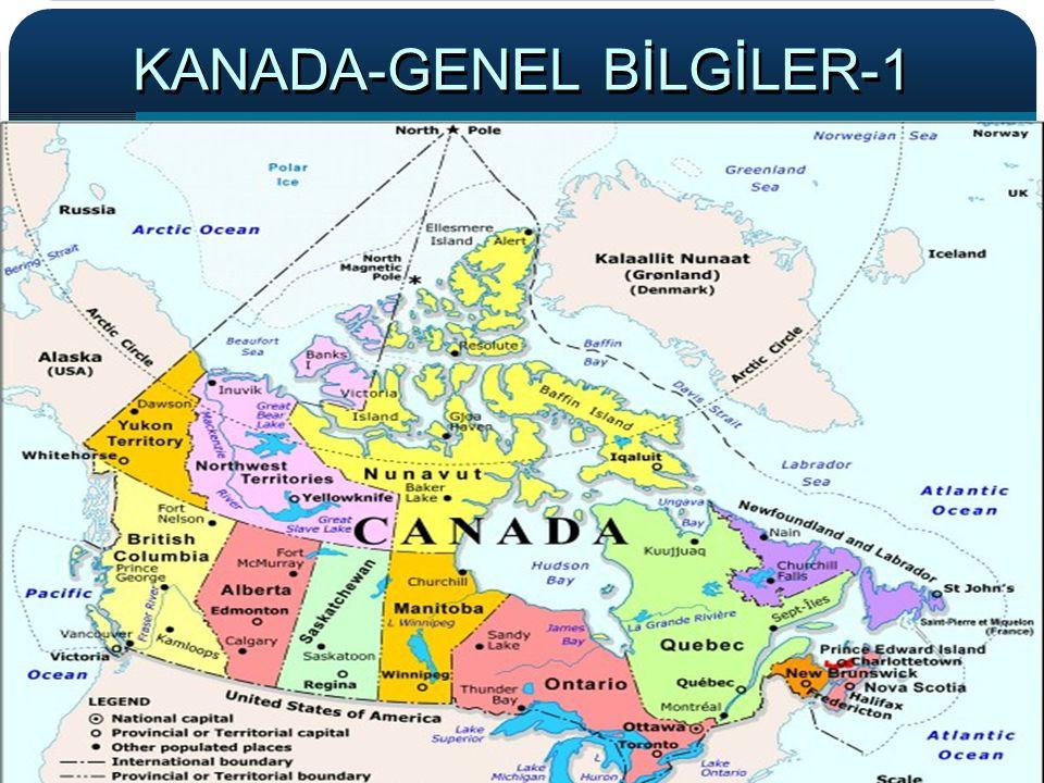 KANADA-GENEL BİLGİLER-1