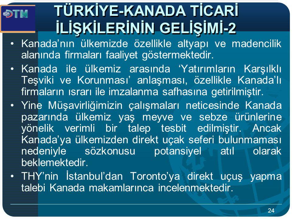 TÜRKİYE-KANADA TİCARİ İLİŞKİLERİNİN GELİŞİMİ-2