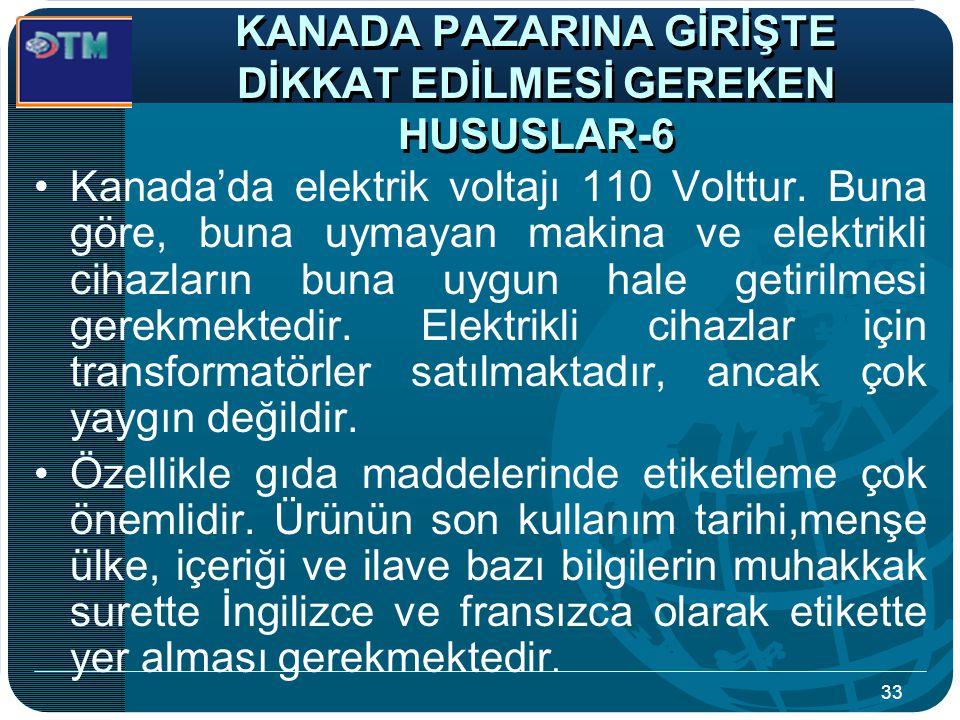 KANADA PAZARINA GİRİŞTE DİKKAT EDİLMESİ GEREKEN HUSUSLAR-6