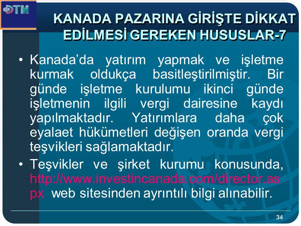 KANADA PAZARINA GİRİŞTE DİKKAT EDİLMESİ GEREKEN HUSUSLAR-7
