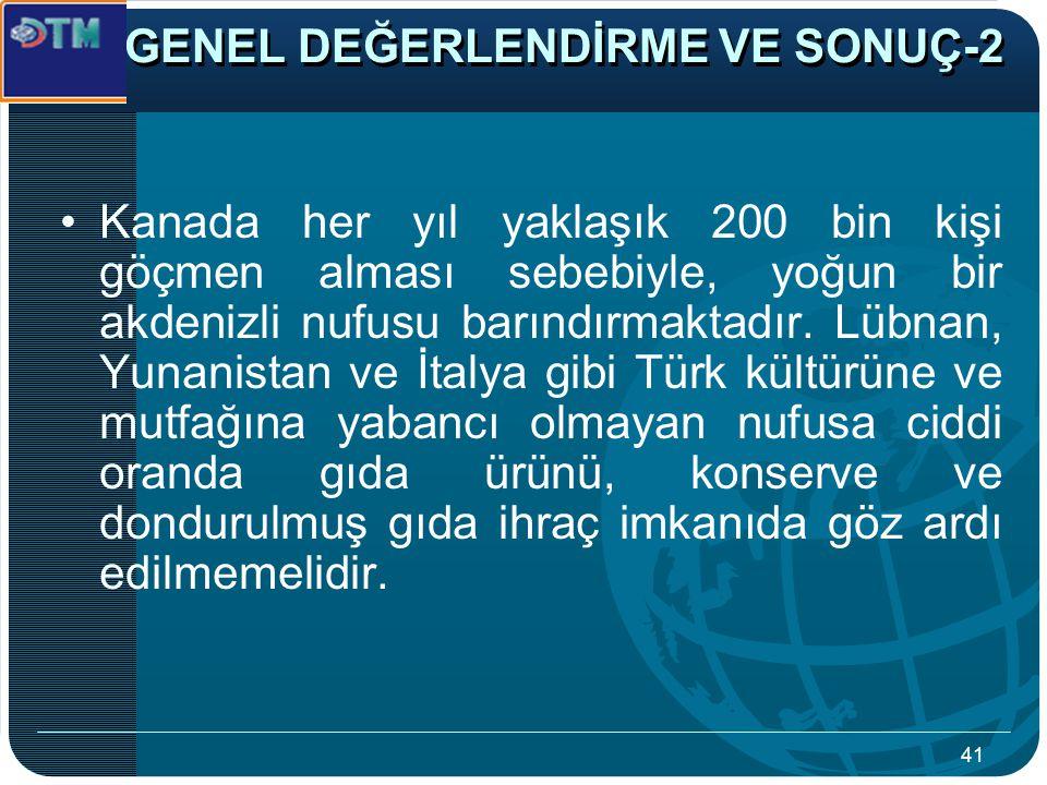 GENEL DEĞERLENDİRME VE SONUÇ-2