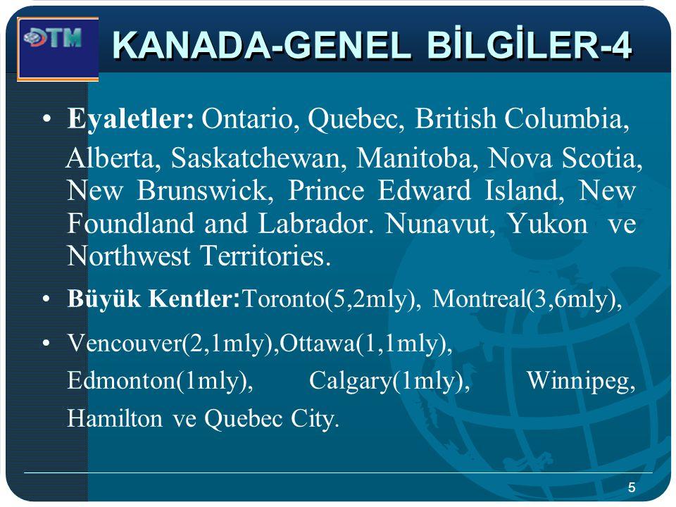 KANADA-GENEL BİLGİLER-4
