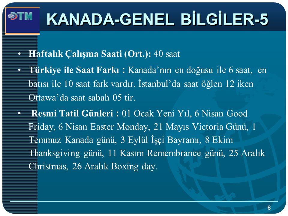 KANADA-GENEL BİLGİLER-5