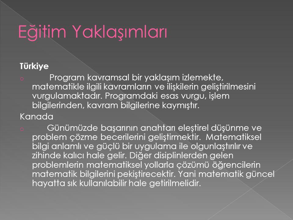 Eğitim Yaklaşımları Türkiye