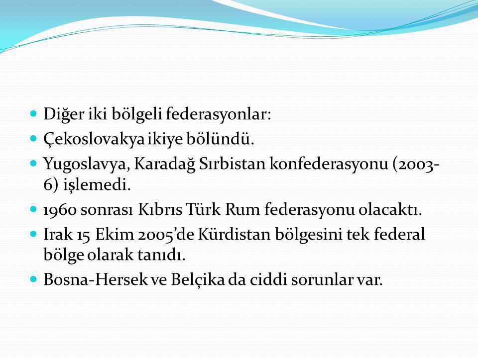 Diğer iki bölgeli federasyonlar: