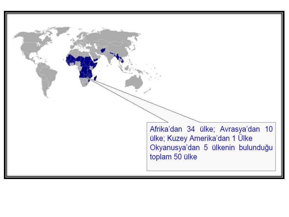 Birleşmiş Milletlere Üye 192 Ülke