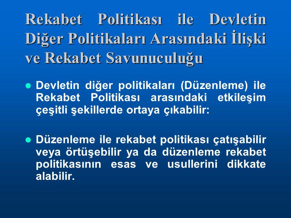 04.03.2005 Rekabet Politikası ile Devletin Diğer Politikaları Arasındaki İlişki ve Rekabet Savunuculuğu.