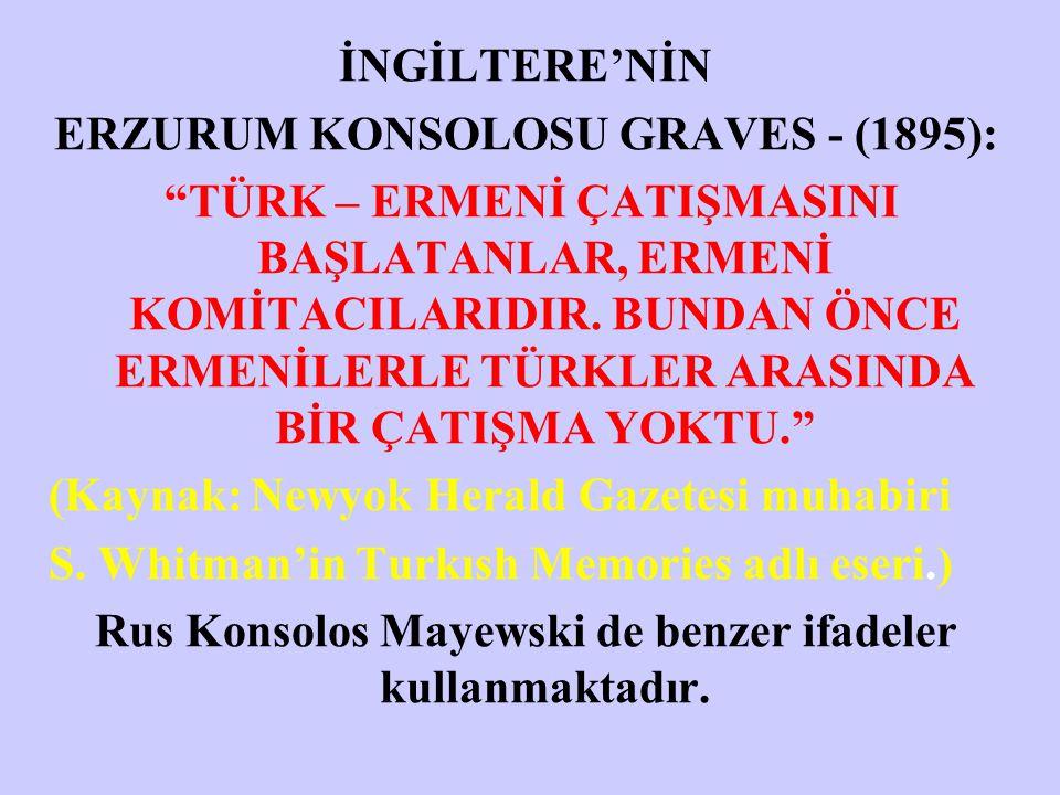 ERZURUM KONSOLOSU GRAVES - (1895):