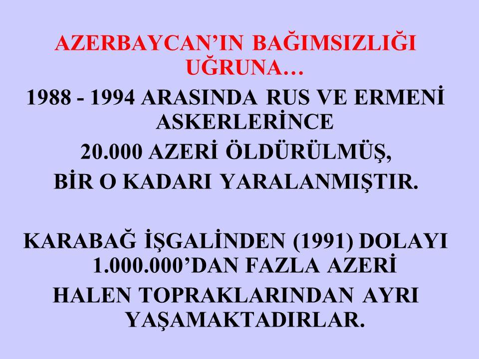 AZERBAYCAN'IN BAĞIMSIZLIĞI UĞRUNA…