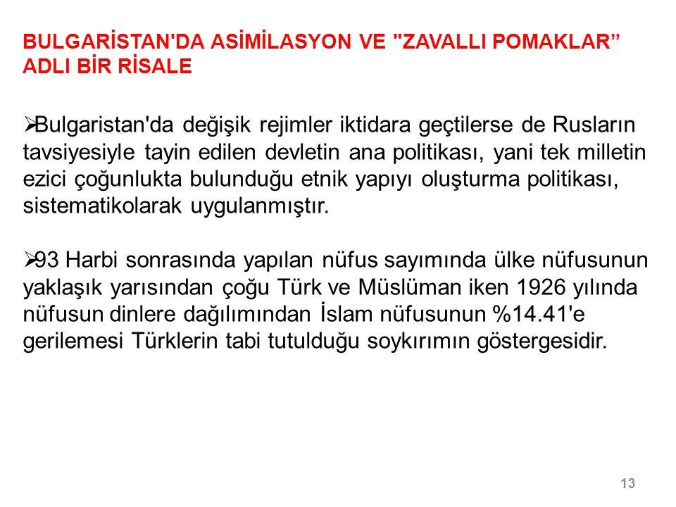 gerilemesi Türklerin tabi tutulduğu soykırımın göstergesidir.