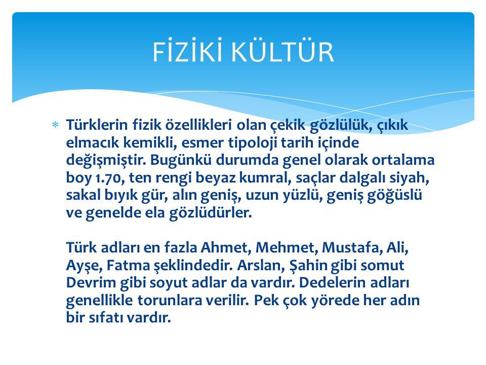 FİZİKİ KÜLTÜR