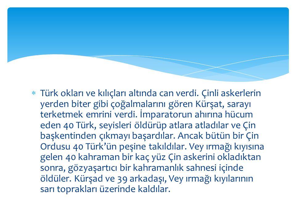 Türk okları ve kılıçları altında can verdi