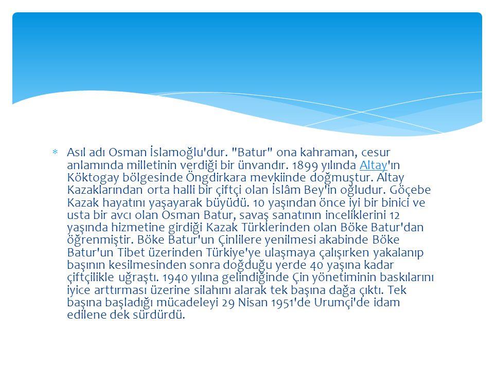 Asıl adı Osman İslamoğlu dur