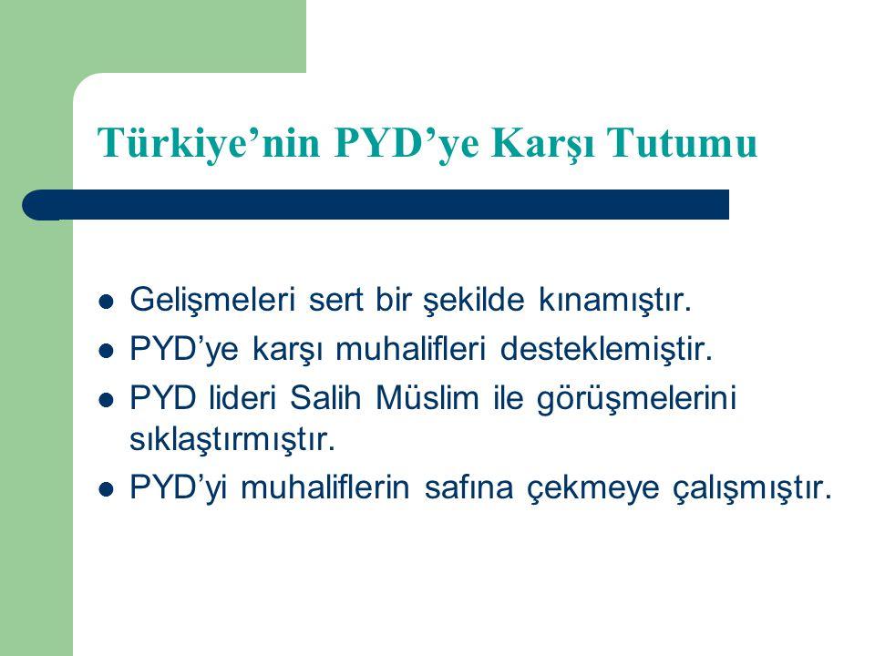 Türkiye'nin PYD'ye Karşı Tutumu