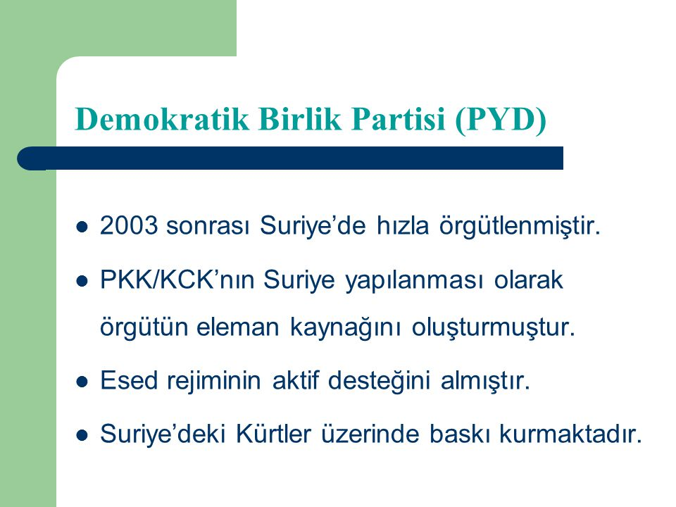 Demokratik Birlik Partisi (PYD)