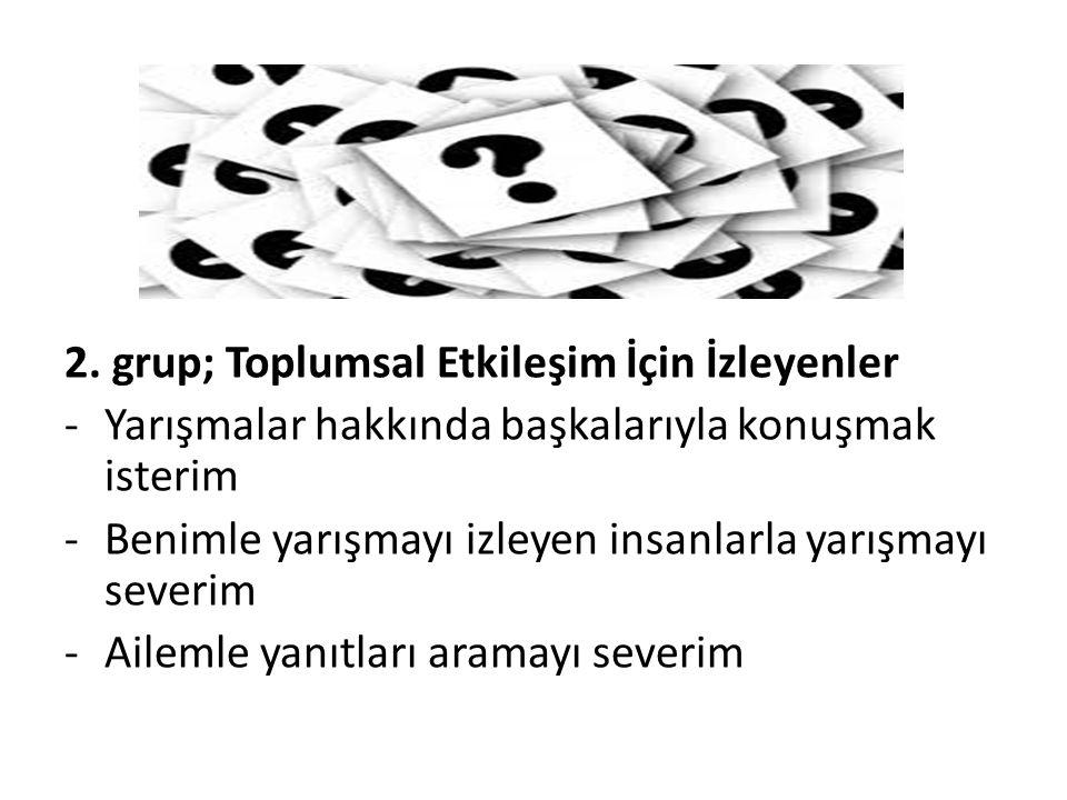 2. grup; Toplumsal Etkileşim İçin İzleyenler