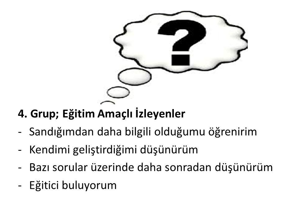 4. Grup; Eğitim Amaçlı İzleyenler