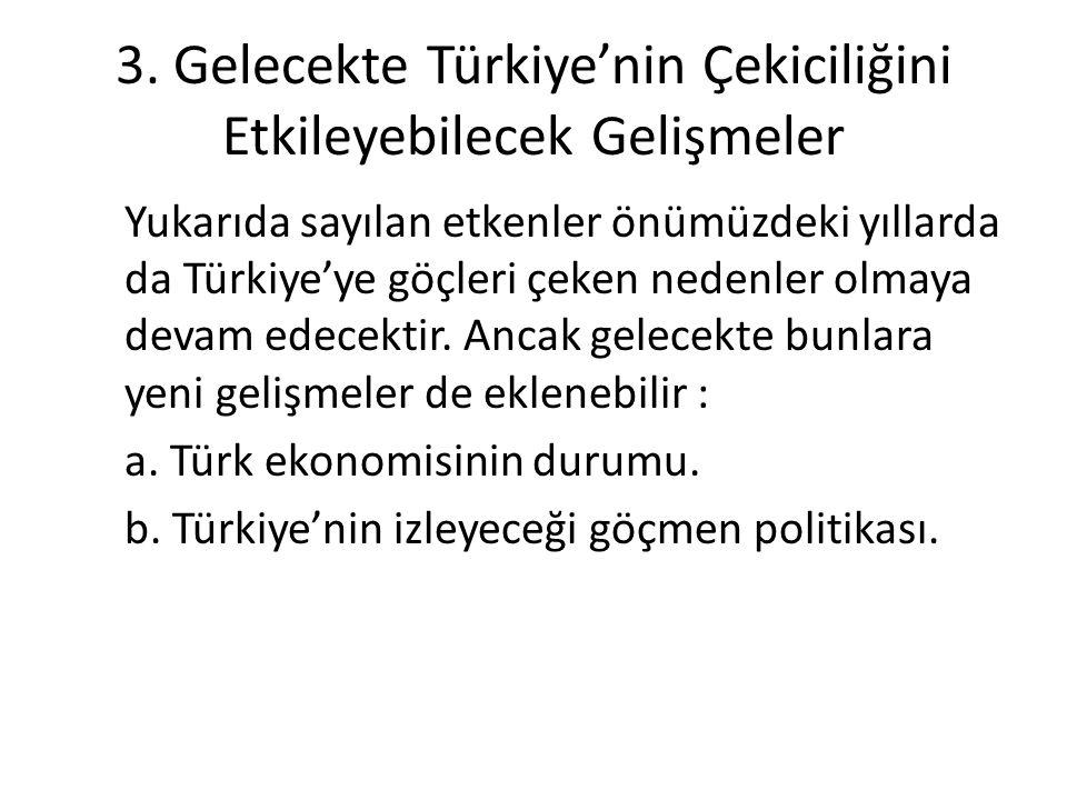 3. Gelecekte Türkiye'nin Çekiciliğini Etkileyebilecek Gelişmeler