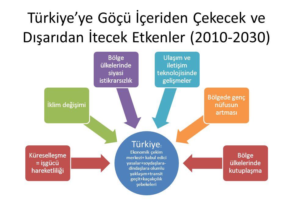 Türkiye'ye Göçü İçeriden Çekecek ve Dışarıdan İtecek Etkenler (2010-2030)