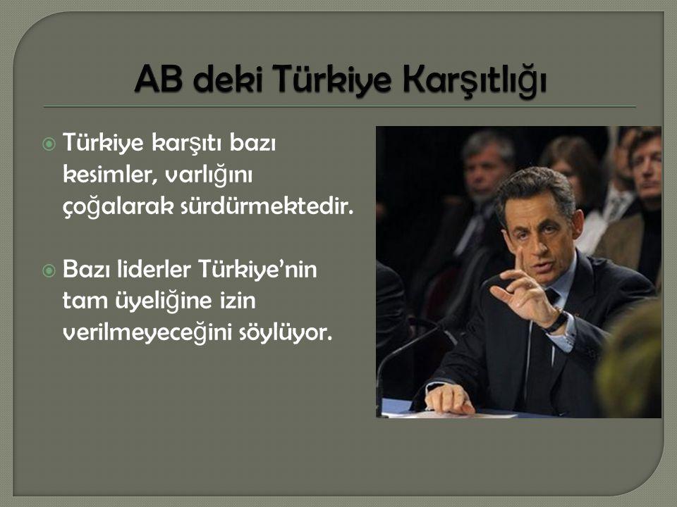 AB deki Türkiye Karşıtlığı