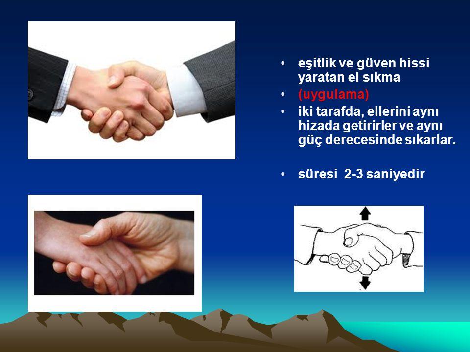 eşitlik ve güven hissi yaratan el sıkma