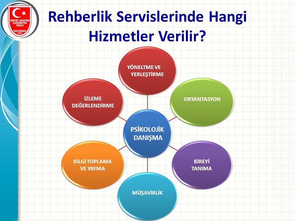 Rehberlik Servislerinde Hangi Hizmetler Verilir