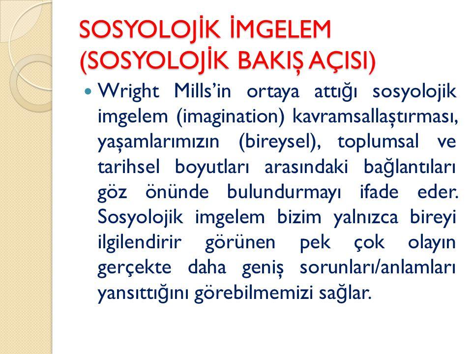 SOSYOLOJİK İMGELEM (SOSYOLOJİK BAKIŞ AÇISI)