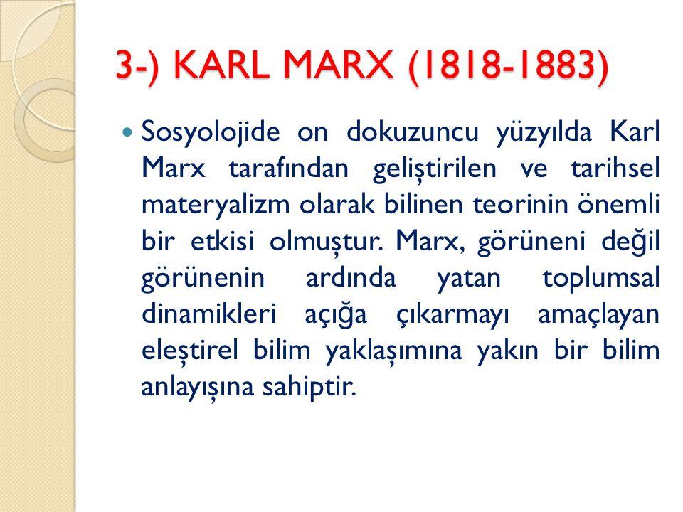 3-) KARL MARX (1818-1883)