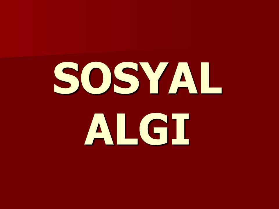 SOSYAL ALGI