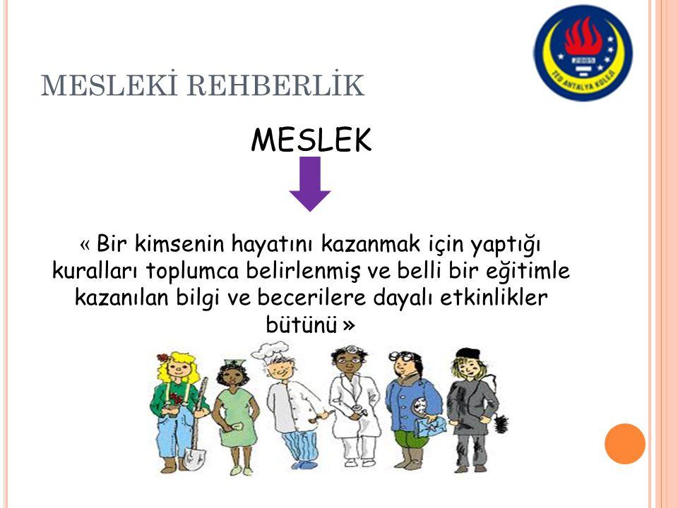 MESLEK MESLEKİ REHBERLİK