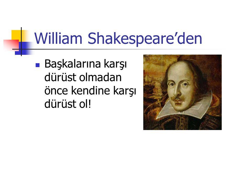 William Shakespeare'den