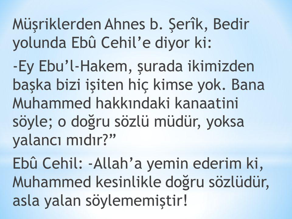 Müşriklerden Ahnes b.