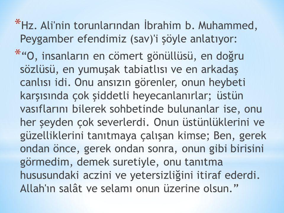 Hz. Ali nin torunlarından İbrahim b