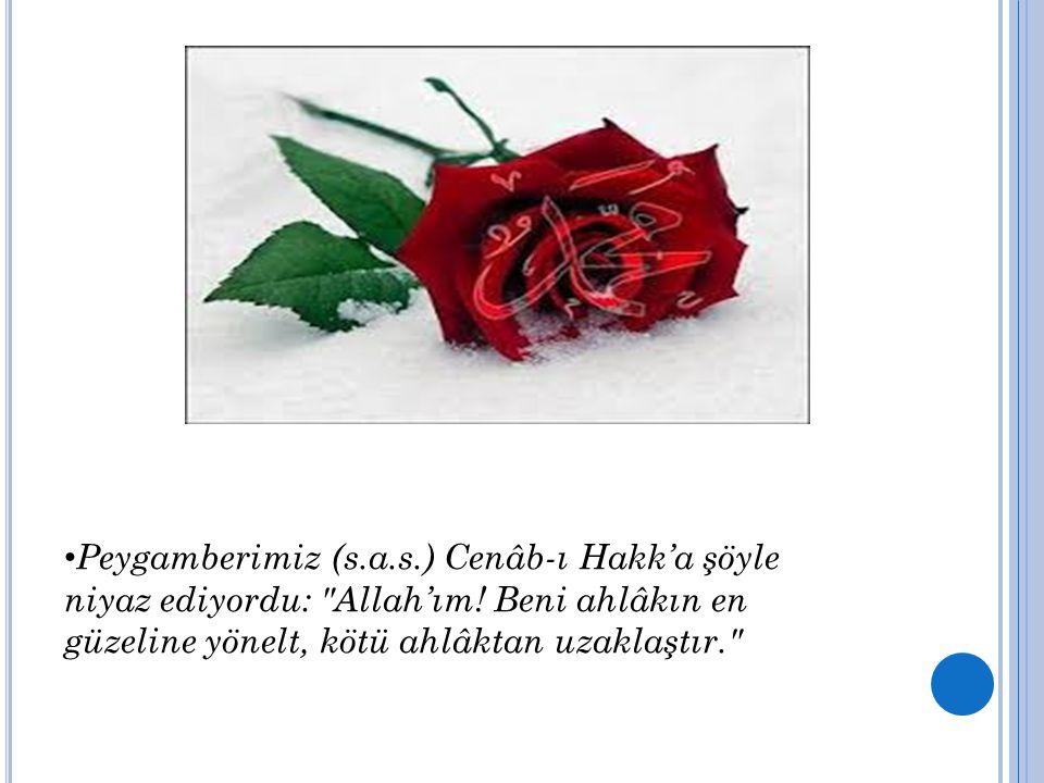 Peygamberimiz (s.a.s.) Cenâb-ı Hakk'a şöyle niyaz ediyordu: Allah'ım.