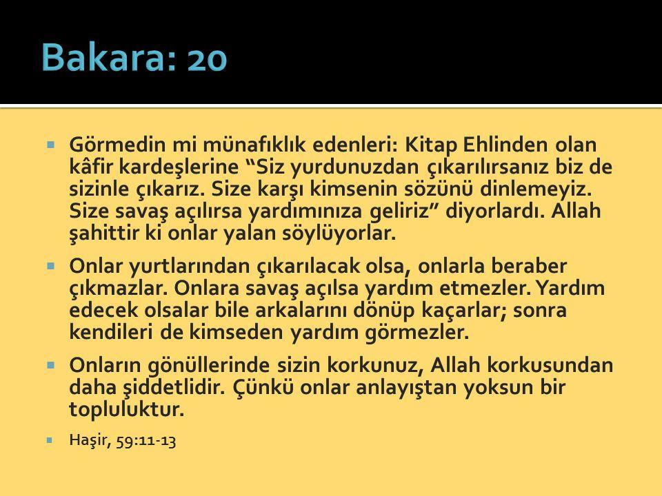 Bakara: 20