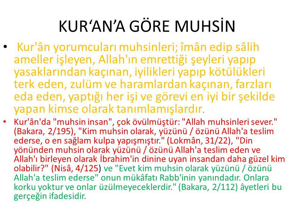 KUR'AN'A GÖRE MUHSİN