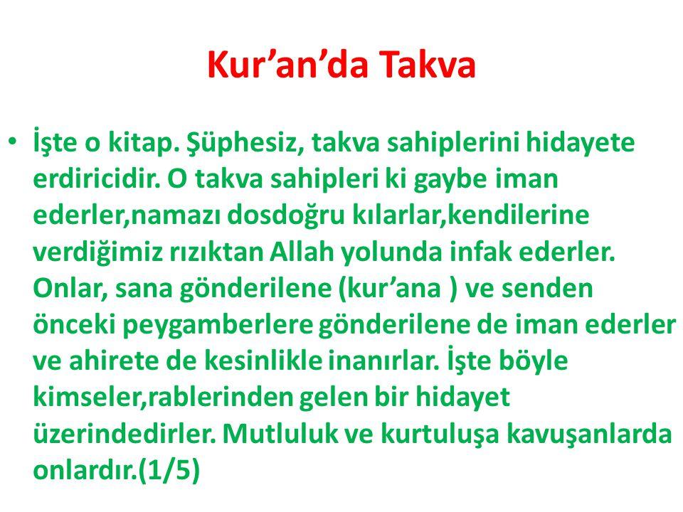 Kur'an'da Takva