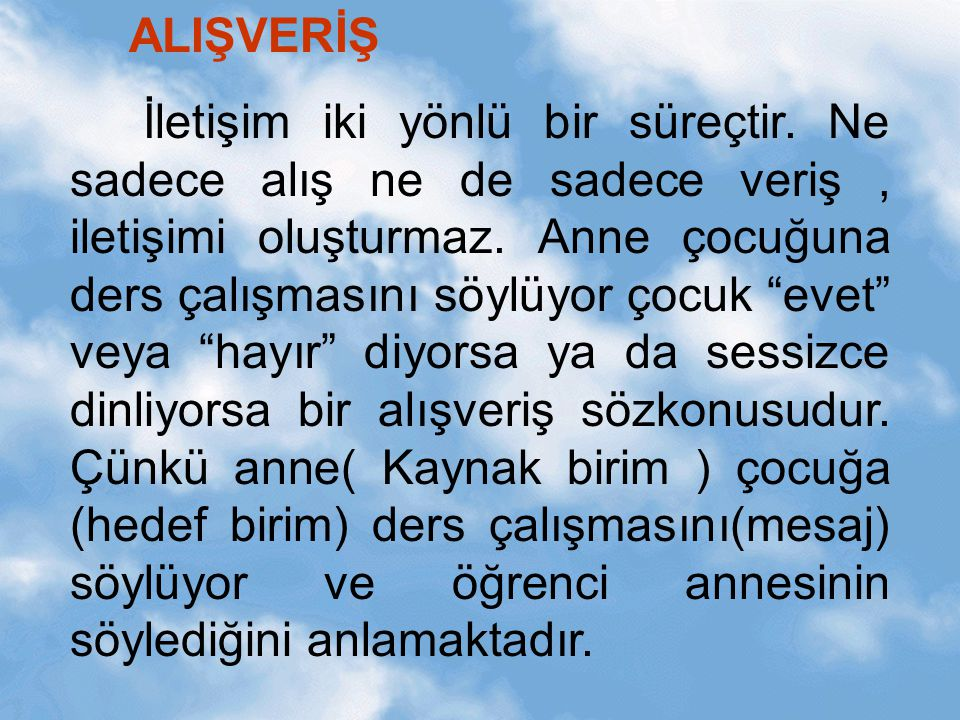 ALIŞVERİŞ