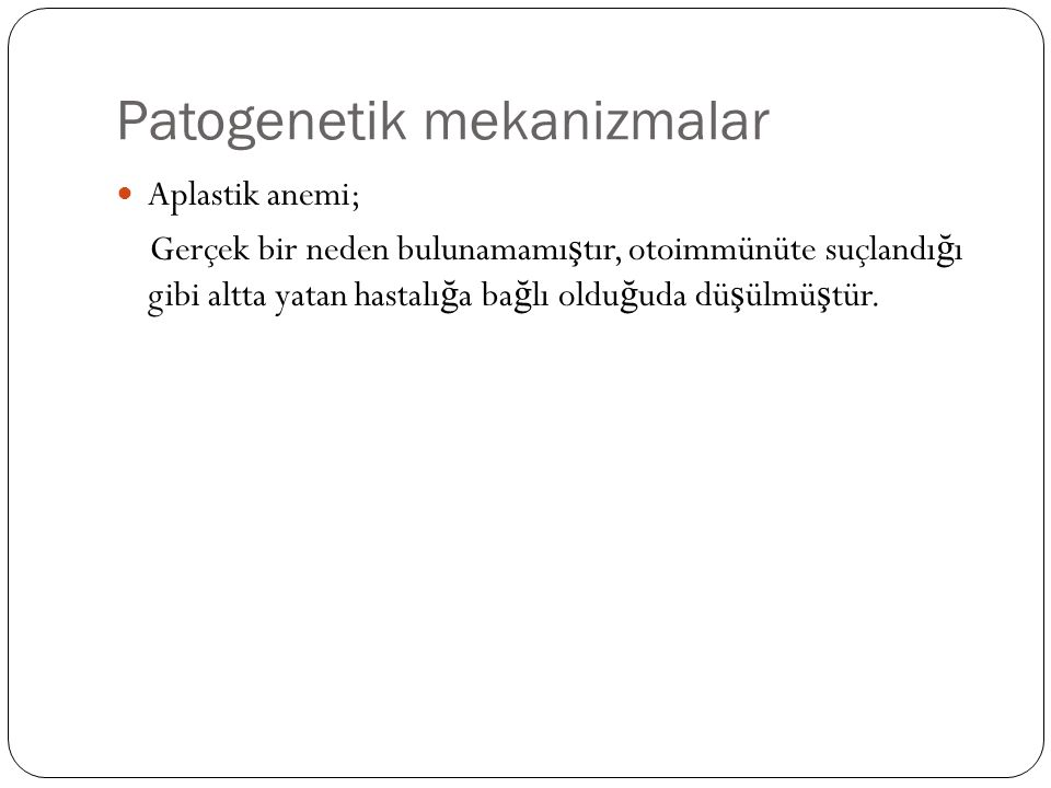 Patogenetik mekanizmalar