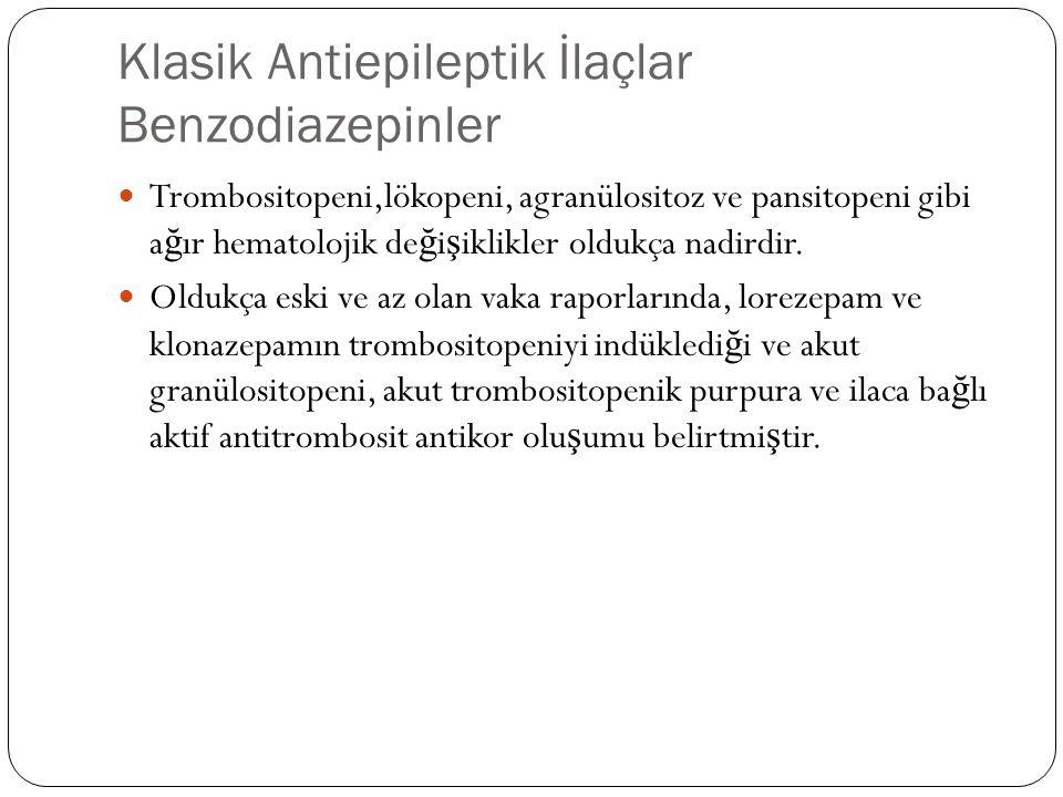 Klasik Antiepileptik İlaçlar Benzodiazepinler