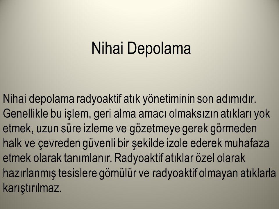 Nihai Depolama
