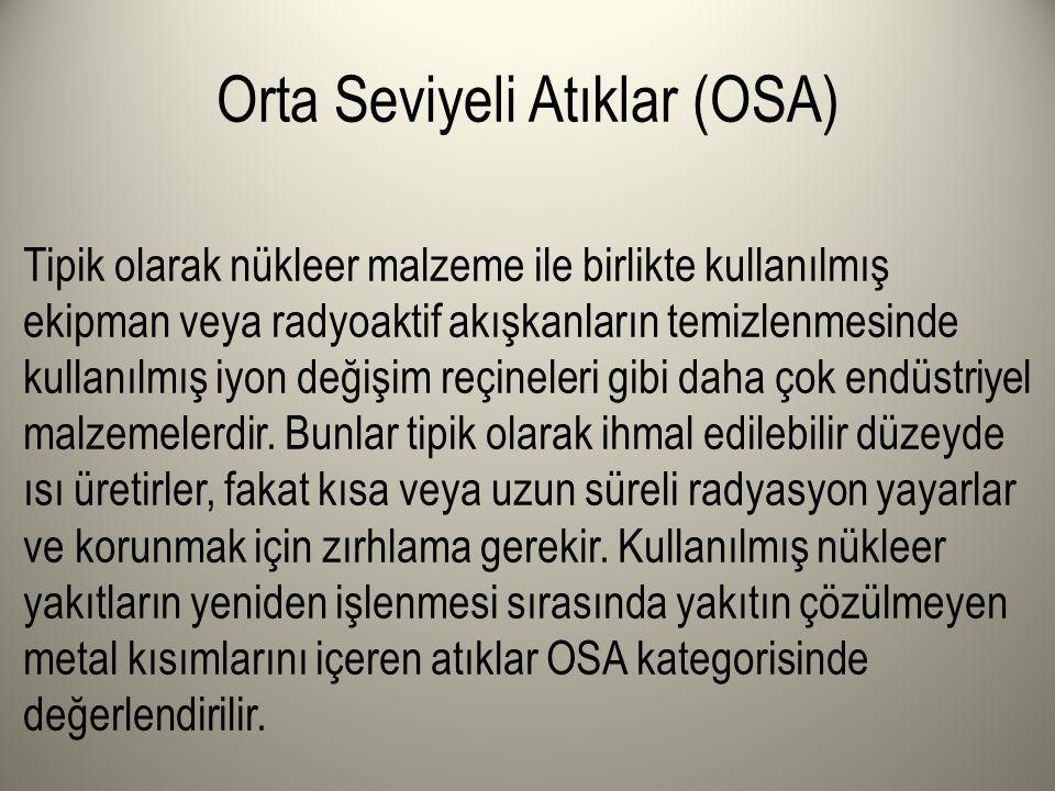 Orta Seviyeli Atıklar (OSA)