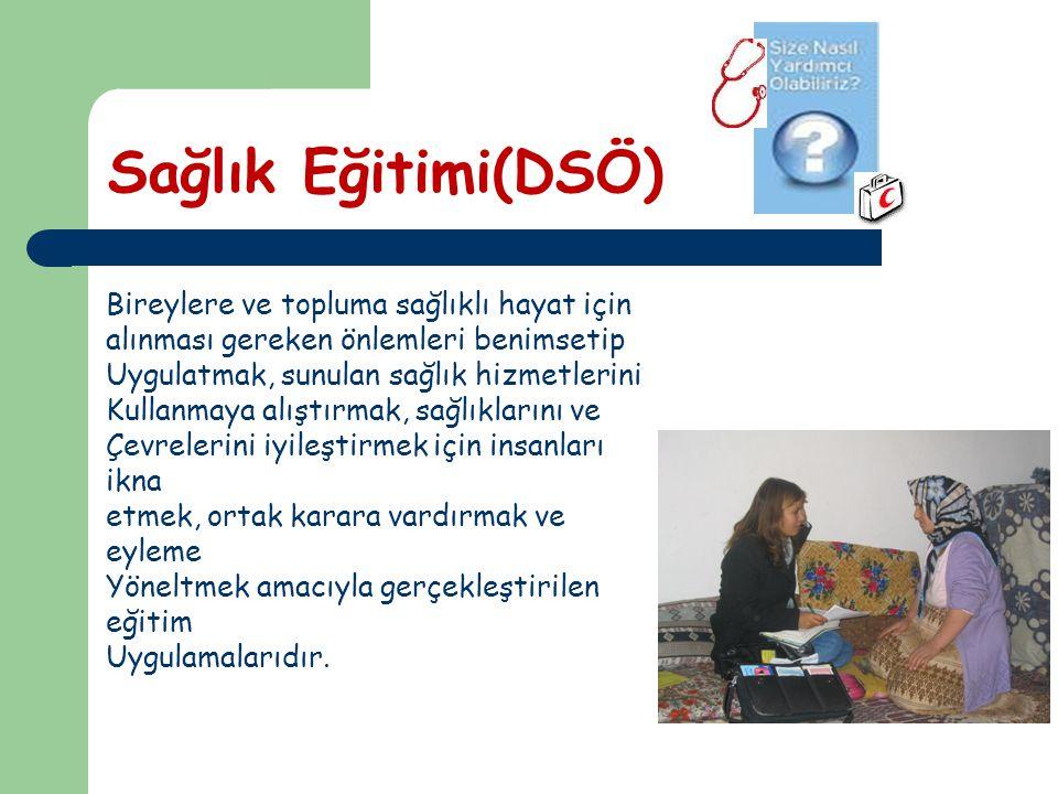 Sağlık Eğitimi(DSÖ) Bireylere ve topluma sağlıklı hayat için