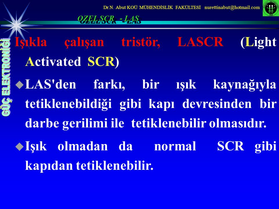 Işıkla çalışan tristör, LASCR (Light Activated SCR)