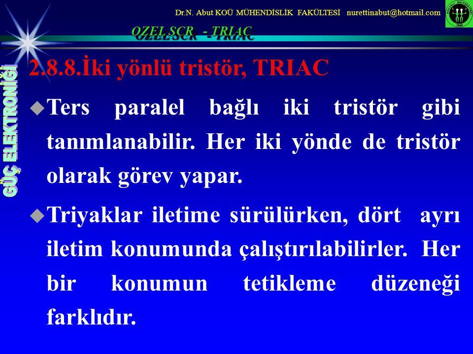 2.8.8.İki yönlü tristör, TRIAC
