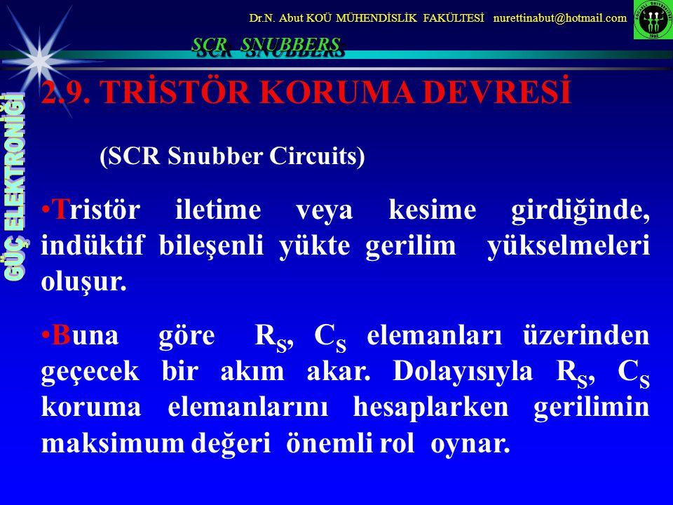 2.9. TRİSTÖR KORUMA DEVRESİ (SCR Snubber Circuits)